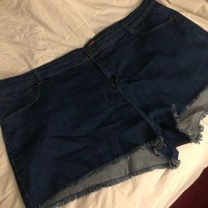 Modcloth - Rainbow Pocket Jean Shorts